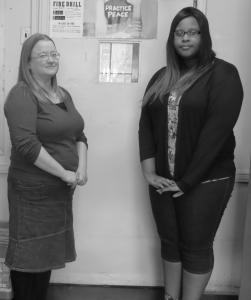Peer mediation advisor Ms. Gibbens and her mediator.