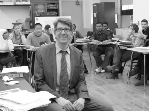 Mr. Rensick enjoys teaching his A.P. class.