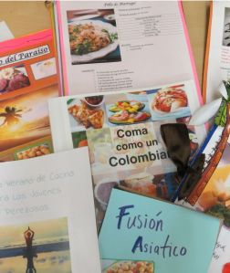 Examples of the cookbooks created in Ms. Howell's Spanish 8 class.