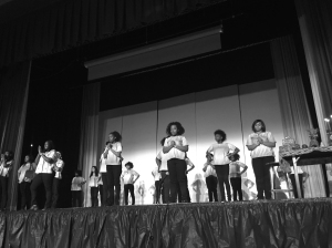 Step team performs at Kwanzaa Fest