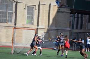 Dajana Reci '15 scored the first goal in the game against curtis