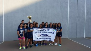 The Hornets are this year's Girls' Handball Champions.